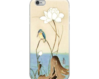 Japanese bird iPhone case, beautiful Asian design, great for bird lovers, nature lovers, and flower lovers!