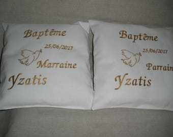 Embroidered to godparents baptism gift