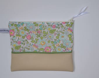 Wallet imitation leather and liberty cotton