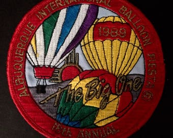 "1989 ""The Big One"" Albuquerque International Balloon Fiesta Patch - 18th Annual"