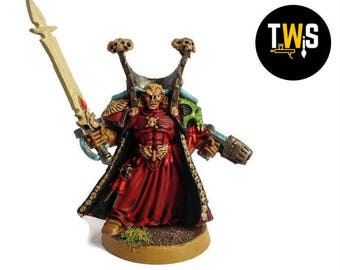 Warhammer 40k Chief Librarian Mephiston, Commissioned Painting Services, Table Top Standards
