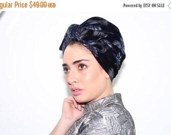 Summer sale 10% OFF Turban Hat , blue Fashion Turban , Turban Headwrap , Women Turban Hat , Turban Head Wrap , Hair Turban, head turban, ful