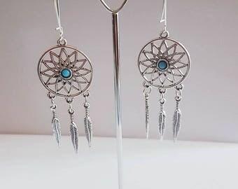 Pair of dream catcher earrings