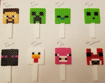 Minecraft cupcake toppers - You choose 12