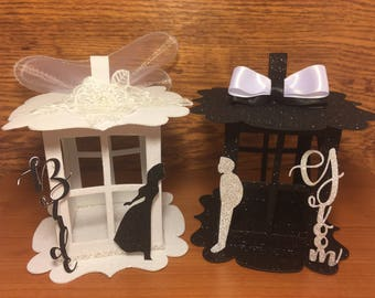 Bride & Groom Centerpiece - Lantern Table Decoration Bride Groom MRS MR original