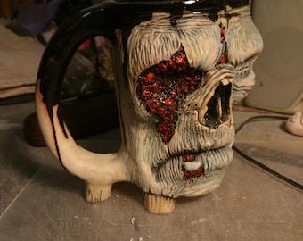 Zombie Mug ceramic, ceramics Zombie cup, Coffee Zombie Mug, men gift, face mug,   zombie,beer mug zombie Apocalypse 0,5 liter , gift mug