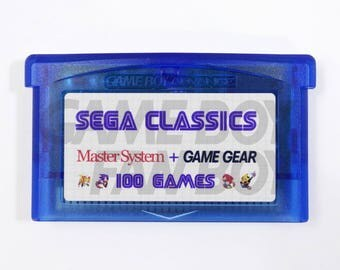 100-in-1 SEGA Classics Collection for GBA Gameboy Advance multicart Master System Game Gear Cartridge Sonic SMS - Free Shipping!