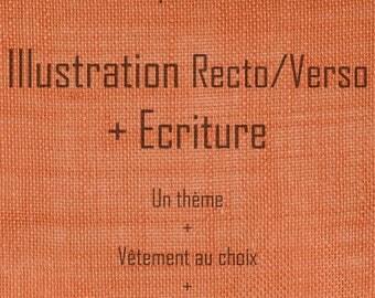 Custom clothing - Illustration Recto/Verso and writing