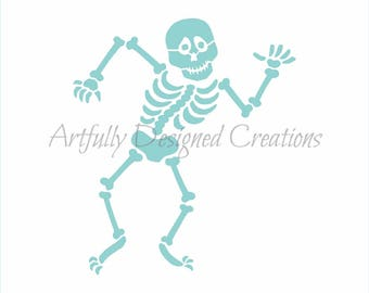 Dancing Skeleton Stencil by Artfully Designed Creations