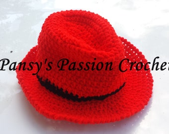 Fedora/Trilby Style Crochet Hat