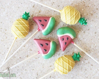 Pineapple & Watermelon Cake Pops