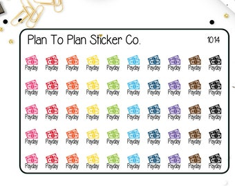 1014~~ Payday Planner Stickers.