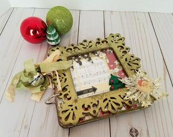 Handmade Scrapbook Mini Album - Christmas
