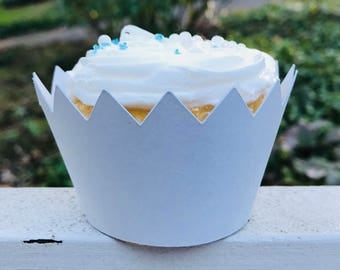 Shark Teeth Cupcake Wrapper, Custom Cupcake Wrapper, Standard Size Cupcake Wrappers, Custom Color Cupcake Wrappers