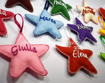 Personalized Christmas stars with name