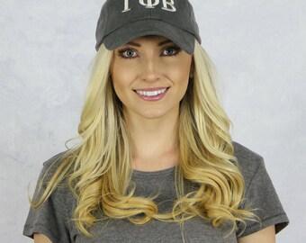 Gamma Phi Beta Baseball Hat in Gray