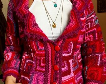 Romantic elegant multicolored women's jacket