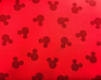 """Mickey head dot toss RED by Springs Creative, By the Half Yard, 43"""" wide, 100% cotton, disney fabric, mickey fabric, licensed fabric"""