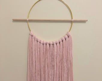 Blush Wallhanging - Powder Pink Wallhanging- Knot Wall Hanging