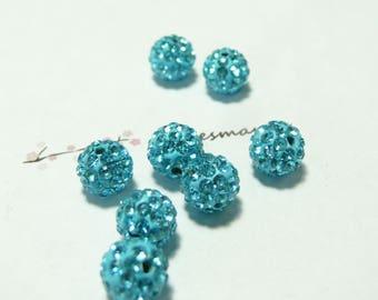 1 Pearl 10mm turquoise quality shambala