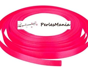 1 roll of satin ribbon 22 pink 6mm H11A1