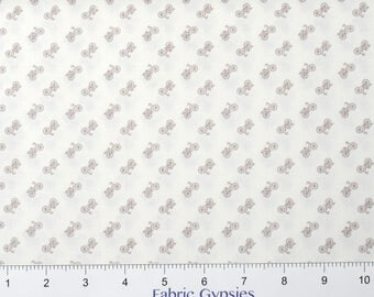 """Riley Blake Designs """"Bee Backgrounds"""" By Lori Holt ~Backgrounds BICYCLE  ~ C6389-GRAY ~ Low Volume ~ Half Yard Increments"""