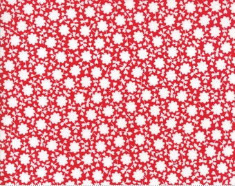 "Moda ""The Good Life"" by Bonnie and Camille ~ CAREFREE ~ Red 55156 11  ~ Small Floral ~ Half Yard Increments"