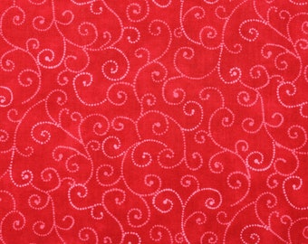 "Moda Basics ""MARBLE SWIRLS""  ~ 9908-23 Christmas Red ~ Tonal Red with Swirls ~ Half Yard Increments"