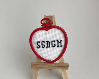 SSDGM Heart Shaped Cross Stitch
