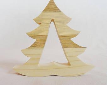 "decoration Christmas tree in natural wood, spruce, multi-bois, douglas, Robinia or wood fibers green ""tree"" decoration Christmas table"