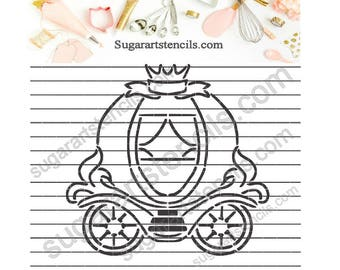 Princess carriage PYO cookie Stencil NB900737