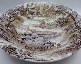 Vintage Salad Serving Bowl, Ridgway, Hayride, Made in England, Brown Salad bowl, Salad Bowl, English tableware, replacement, serving bowl