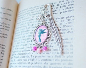 Little fairy Tinkerbell Silhouette shadow Black Rose bookmark