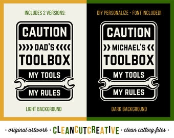 SVG Dad Tools Rules svg Men gift svg grandpa toolbox decal design svg name fix handy man funny dxf eps png Cricut & Silhouette - commercial