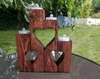 Heart shaped LED candles holders