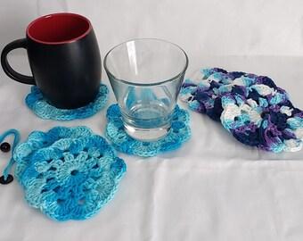 4-piece Crochet Coaster Set