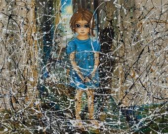Keane & Pollock - oil painting Romanian Artist - Rina - Tortillon Collection