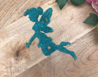 CLEARANCE! 1 ONLY Turquoise Glitter Fairy Cake Topper Cake Decoration Cake Decorating Cake Topper Ideas Cake Decorating Ideas Birthday Cake