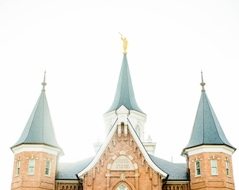 "Provo City Center Temple ""Light Leaks"" - Modern LDS Temple Print"
