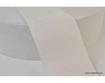 Mesh 60mm white elastic