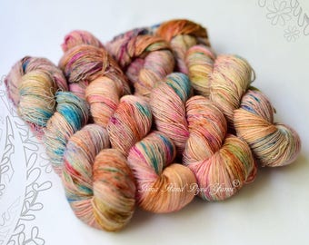 SILK MELODY - Potluck - hand dyed, extra fine merino and mulberry silk yarn, for knitting or crochet, singles