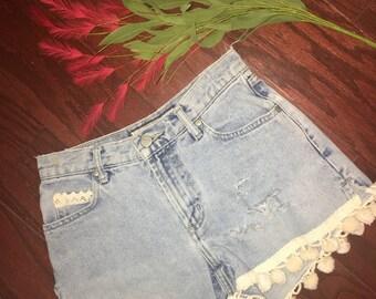 Vintage Distressed Shorts Size 0