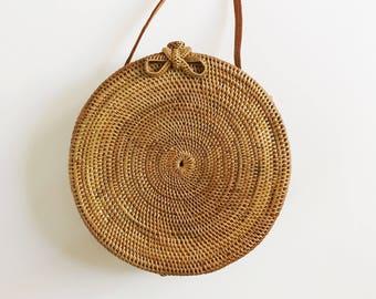 PRE-ORDER Round // Rattan Woven Basket Bag