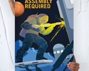 Nasa Mars ( ASSEMBLY REQUIRED ) - Travel Poster