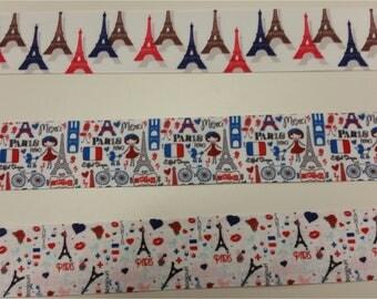 Crossgrain ribbon 1.5 inch wide fashion ribbon Paris Theme Crossgrain ribbon 1.5 inch crossgrain ribbon hairbow making ribbon