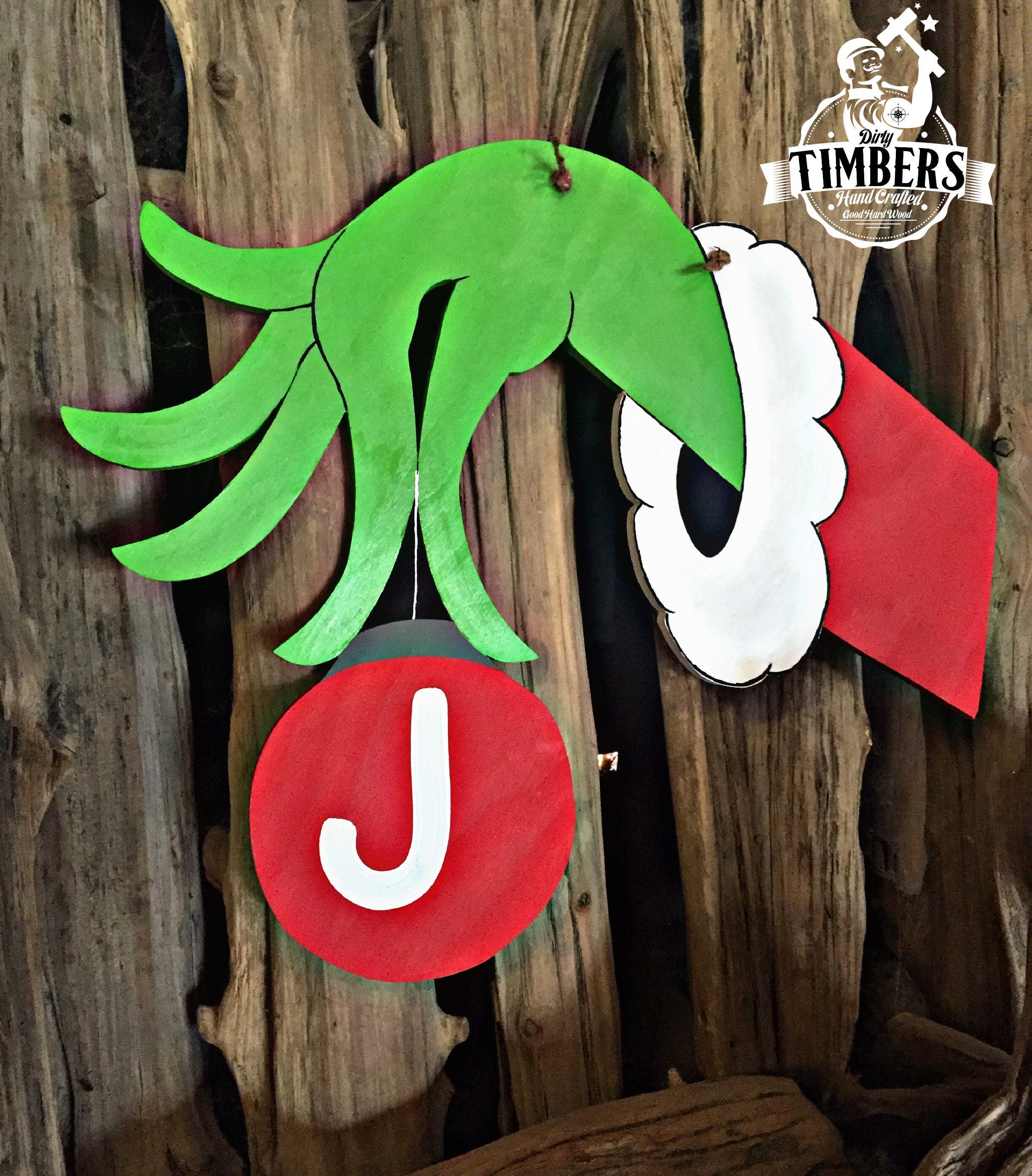 Unfinished Santa Christmas Decor Character Holding A