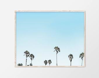 Palm Leaf, Tropical Leaf Print, Palm Trees Print, Tropical Leaves, Botanical Poster, Tropical Decor Print, Palm Leaf Wall Decor, 18x24, 8x10