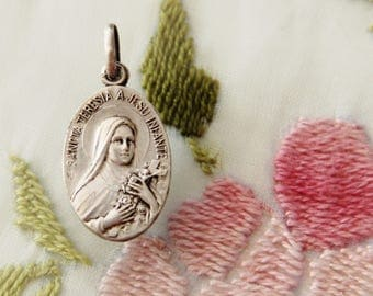 Vintage ST. THERESE of LISIEUX Medal by Jean Balme of France