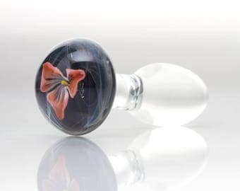 Glass Butt Plug - Tabia - Medium - One Of A Kind Mature/adult/anal/sex Toy