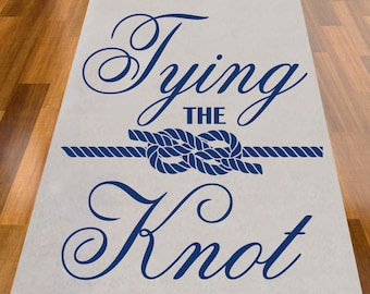 Tying The Knot  Wedding Aisle Runner - NOT PERSONALIZED (MIC-AR9299-A1274)